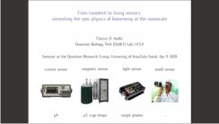 From Nanotech to Living Sensors – Prof Aiello